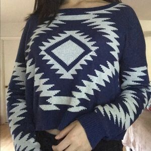 Cute navy and white sweater